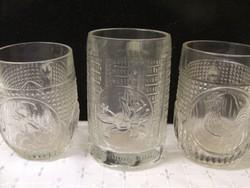 Retro üveg gyerek pohár