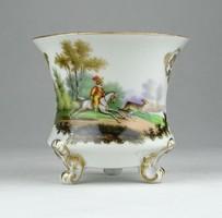 0Y498 Vadászjelenetes porcelán kávéscsésze ~ 1850
