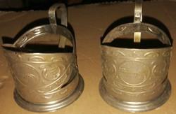 Orosz fém pohártartó párban