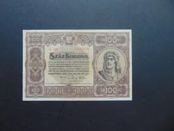100 korona 1920  A 028 Szép ropogós bankjegy !