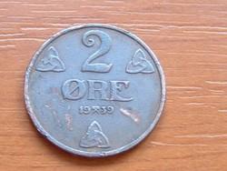NORVÉGIA 2 ŐRE 1939 #