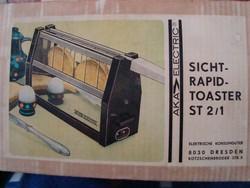 Retro NDK kenyérpiritó eredeti dobozában