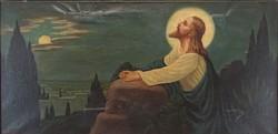 0Y584 Magyar festő XX. sz. Jézus az olajfák hegyén