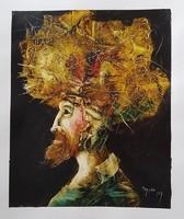 Győrfi András - 33 x 27 cm olaj, akril, papír