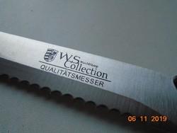 WS Collection Qualitats Messer jelzéssel fűrész fogas acél kés