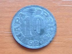 SZERB HORVÁT SZLOVÉN KIRÁLYSÁG 10 PARA 1920 (v) VIENNA ZINC #