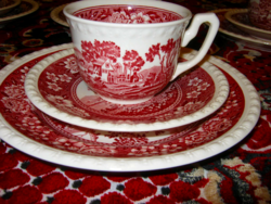 6 személyes Villeroy&Boch  reggeliző szett teás csészealj és desszertes  tányér