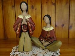 Két darab kerámia imádkozó nő eladó