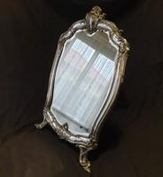 Ezüst keretes asztali tükör eredeti állapotban eladó