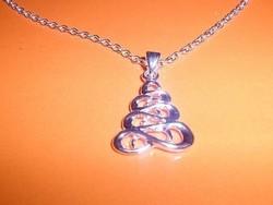 Végtelen ezüst Piramis ezüst- fehérarany nyaklánc