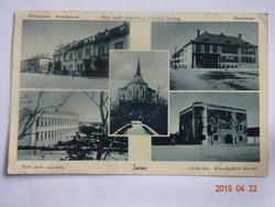 Régi képeslap: Szenc (Felvidék), mozaik, 1942