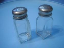 U10  vastag falú  art deco üveg fűszerszórók ritkaság párban eladóak