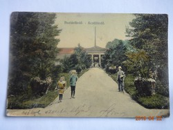 Régi képeslap: Buziásfürdő - Aczélfürdő, 1913