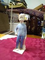 Tollaslabdázó porcelán lány figura.