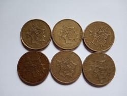 Szép 10  Frank ( Francs ) Franciaország  1975 - 1980  !!  6 darab !