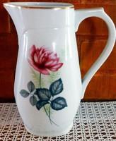 Zsolnay rózsás porcelán kancsó.