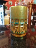 Zsolnay pohár. Eozin zöld.