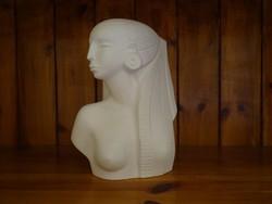 Egyiptomi Női büszt szobor akt Világhy Árpád szobrászművész alkotása