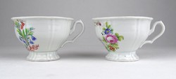 0Y497 Porcelán kávéscsésze pár ZUM ANDENKEN ~ 1860