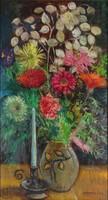 0Y572 V. Barta Éva : Asztali virágcsendélet