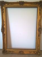 Nagyon szép antik blondel keret képkeret 65x90 cm-s festményhez