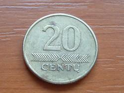 LITVÁNIA 20 CENTU 1998 #
