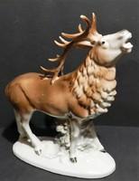 """Porcelán """" Szarvas """" szobor 25 cm-es ,,jelzett,hibátlan"""