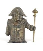 0Y540 Napoleon bronz francia katona hamutál