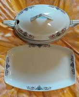 H&C chodau biedermeier porcelán tálaló készlet nagyon szép állapotban