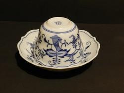 """Antik Meisseni"""" Hagymamintás""""  2 db nagy teás csésze szett ,jelzett"""