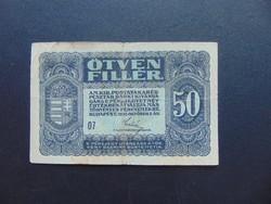 50 fillér 1920  07 sorszám