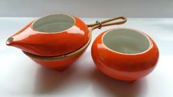 Zsolnay art deco kávés készletből kiöntő és cukortartó pótlásnak