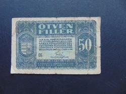 50 fillér 1920  06 sorszám