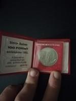 1983-as Simon Bolivár 100 Forint