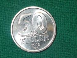 50 Fillér 1992  ! Verdefényes !