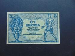 5 korona 1919 Tanácsköztársaság    03