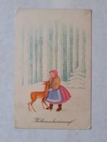 Régi karácsonyi képeslap 1957