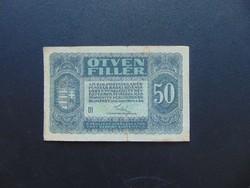 50 fillér 1920  01 sorszám