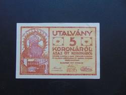 5 korona 1919 Ganz - Törzsgyár