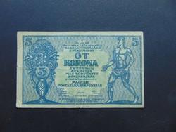 5 korona 1919 Tanácsköztársaság   02