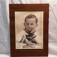 Jelzett Varga, műtermi fotó , fiú portré 1935 , 33,5x24,5 cm
