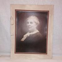 Műtermi fotó, női portré (Varga) 30,5x24 cm