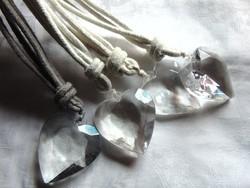 4 db akril szív függönykikötő