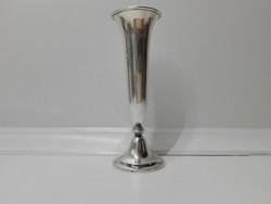 Karcsú-kecses art-deco, ezüst harangvirág váza eladó,