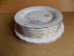 Porcelán tányér készlet 6 db tányér 1 db kínáló (p2)