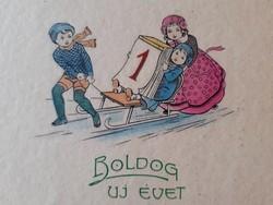 Régi újévi képeslap 1929