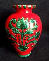 Gmundeni (Gmundner Keramik) kézzel festett váza 16 cm
