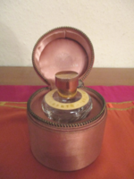 Régi parfümös üveg eredeti tokban