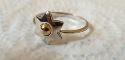Sárga és fehér arany csillagot formázó gyűrű