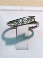 Öt köves, 0.25 pont gyémánt gyűrű